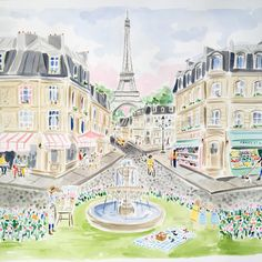 Here is the finished Paris painting (from my sketch last week). Working on Capri now! @madredallas @katebellin #katebellincontemporary