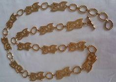 Vintage, anni  70, Pierre Cardin necklace, collana tono oro