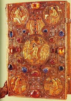 Altar Gospel. Ancient book covers as Russian jewelry art
