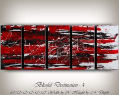 LARGE ARTWORK ABSTRACT paintings red abstract от largeartwork
