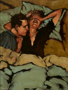 wonderful expressions and vintage feel Contemporary Art - Michael Carson, American Artist Figure Painting, Painting & Drawing, Painting Abstract, Acrylic Paintings, Couple Painting, Abstract Portrait, Pinterest Pinturas, Art Brut, Norman Rockwell