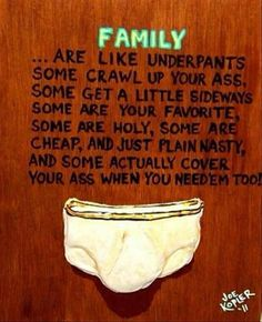 Family are like underpants - Classic! Great board Erin! So many pins so little time!