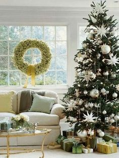 Christmas tree in white