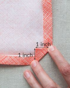 Great video on creating simple mitred corners - Classic Mitered Napkins- Purl Soho