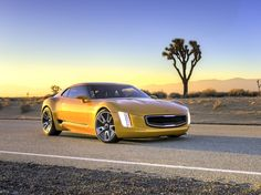GT4 Stinger (KCD-10) is an authentic rear-drive sport coupe that matches superb driving experience with a futuristic design language. It is no surprise that the GT4 Stinger won Kia another IDEA Design Award in 2014.