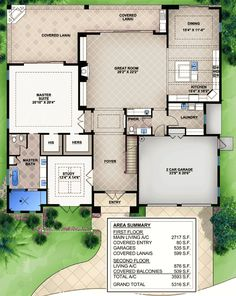 3 Bedroom Beauty With Covered Lanai - 65613BS | Beach, Florida, Mediterranean, Southern, Luxury, Photo Gallery, Premium Collection, 1st Floor Master Suite, CAD Available, Den-Office-Library-Study, Loft, PDF | Architectural Designs