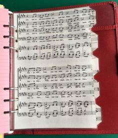 Filofax-Kikki-A5-Organiser-Planner-Dividers-Unusual-Musical-Notes-Laminated Planner Dividers, Planner Organization, Office Organization, Agenda Planner, Organisers, Filofax, A5, Planners, Notes
