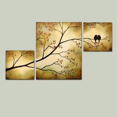 Original Tree Branch with Birds Triptych 36 x 20 Large Painting via Etsy by yy_s. Original Tree Branch with Birds Triptych 36 x 20 Large Painting via Etsy by yy_sky <!-- Begin Yuzo --><!-- without result -->Related Post maydesigns / 3 Piece Canvas Art, Diy Canvas Art, Bild Gold, Multiple Canvas Paintings, Triptych Art, Acrylic Canvas, Large Painting, Stone Painting, Tree Art