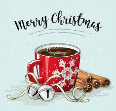 Merry Christmas In Spanish, Merry Christmas Card, Christmas Coffee, Magical Christmas, Christmas Images, Christmas Projects, Christmas Art, Christmas Greetings, All Things Christmas