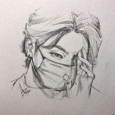 Kpop Drawings, Art Drawings Sketches Simple, Pencil Art Drawings, Realistic Drawings, Cartoon Drawings, Delta Art, Anatomy Art, Arte Sketchbook, Sketch Inspiration