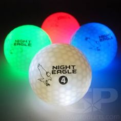 - LED Glow Golf Balls - 12 Ball Color Mix - 3 each of Blue, Green, Red & White! - Includes an LED Ball Activator Light! Golf Flag, Crazy Golf, Crazy Crazy, Golf Instructors, Golf Theme, Sport Craft, Golf Lessons, Ball Lights, Golf Gifts