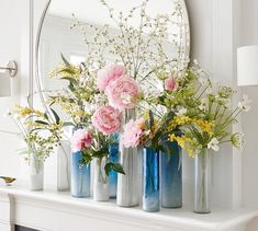 The blossoms of the dogwood are among the surest and loveliest signs of spring. With its delicate leaves and blossoms, this branch looks striking on its own or can lend height and drama to a floral arrangement. Window Ledge Decor, Faux Dogwood Branches, Upholstery Spring, Artificial Flowers, Dogwood Branches, Ledge Decor, Long Vases, Small Vase, Faux Hydrangea