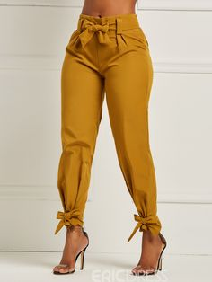 Ericdress Bowknot Plain Womens Pencil Pants We Offer Top Good Quality Cheap Clothes For Women And Men Clothing Wholesaler, Get Affordable Clothing At Worldwide. Fashion Pants, Look Fashion, Fashion Dresses, Womens Fashion, Women's Dresses, Ladies Fashion, Fashion Clothes, Fashion Styles, Fashion Trends
