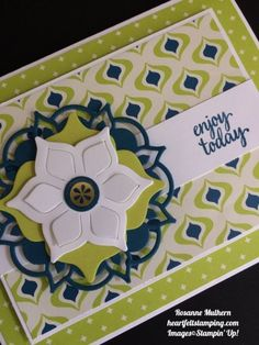 Stampin Up Eastern Palace Cards Idea - Rosanne Mulhern