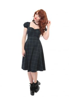 Collectif Mainline Mimi Blackwatch Doll Dress