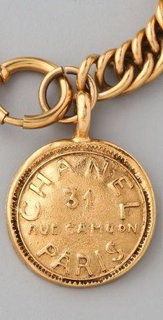 Vintage Chanel Paris Charm Bracelet: