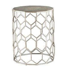 Carmen Metal Accent Table - Antique silver - Southern Enterprise : Target