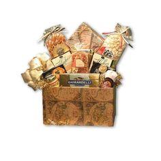 Drop Classic Globe Medium Gift Basket, Brown