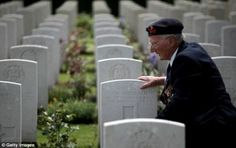 Peter Smoothy, who was a leading writer in the Royal Navy on D-Day visits the grave of a fallen comrade on June 2010 in Bayeux, Franc. Military Veterans, Veterans Day, Battle Of Normandy, Normandy Ww2, D Day Invasion, Thank You Veteran, Government Of Canada, Normandy Beach, D Day Landings