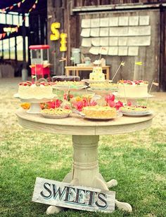 Gallery, Colorful Country Fair Wedding Sweets Table011: California vintage county fair wedding Ivy andScott