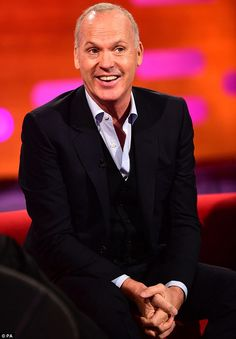 Michael Keaton pictured in London on The Graham Norton Show