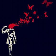 Blood Wallpaper, Gothic Wallpaper, Dark Art Drawings, Drawing Sketches, Banksy, Painting & Drawing, Depression Art, Vent Art, Dark Thoughts