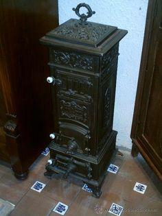 Antigua estufa de hierro fundido para carbon o le a - Estufas de fundicion ...