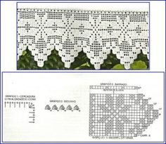 CROCHE E TRICO DA MARIA: Barrrados de croche com gráficos by ann
