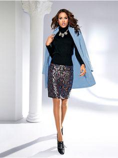 c5770471fe9bf3 Patrizia Dini by heine - Jacquardrock glänzend bunt im heine Online-Shop  kaufen