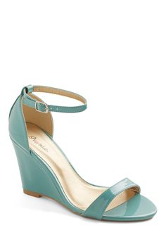 One Suite Day Wedge in Mint, #ModCloth; not real leather but could copy a version of this on shoes of prey?