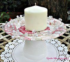 Cupcake Plate  / Petit Fours / Dessert by GardenWhimsiesByMary