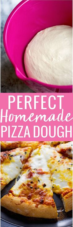 Perfect Homemade Pizza Dough - made with NO REFINED SUGARS and easy to follow with step-by-step directions! #homemadepizza #pizzadough #homemadepizzacrust | Littlespicejar.com