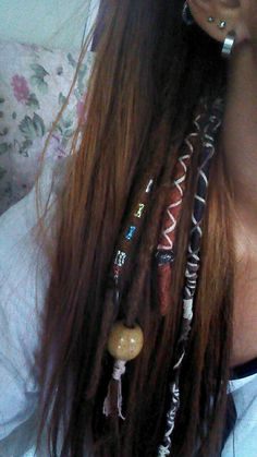 Dreadlocks and hemp hair wraps