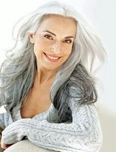Elegant Older Women with Long Hair Styles : elegant older women with long hair in white hair beauty,Hair,Hair and Makeup, Yasmina Rossi, Makeup Tips For Older Women, Long Hair For Older Women, Long Gray Hair, Corte Y Color, Ageless Beauty, Long Layered Hair, Hair Photo, Hair Dos