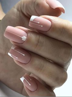 60 Best Natural Short Square Nails Design For Summer Nails - US Makeup Trends Square Nail Designs, Simple Nail Art Designs, Cute Nail Designs, Latest Nail Designs, Short Nail Designs, French Nails, Cute Nails, My Nails, Prom Nails