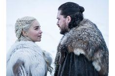 Season 8 Game of Thrones, Emilia Clarke as Daenerys Targaryen and Kit Harington as Jon Snow – Photo: Helen Sloan/HBO. Cersei Lannister, Daenerys Targaryen, Jaime Lannister, Brienne Von Tarth, Ned Stark, Sansa Stark, Game Of Thrones Saison, Game Of Thrones Episodes, Game Of Thrones Fans