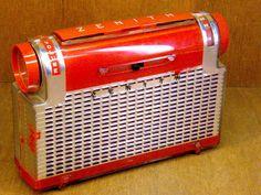 Zenith Portable Model K 410 RED Tube Radio CA 1953   eBay
