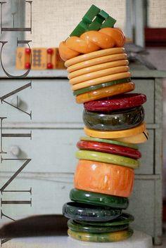 "Bakelite Bracelets (""Balancing Bakelite.."" by GailO - Oliag, via Flickr)"