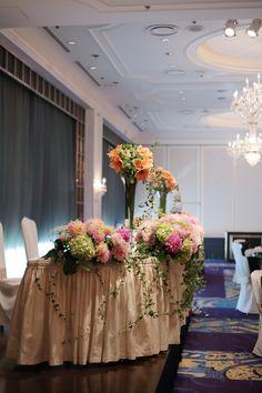 秋の装花 ホテルニューオータニ様へ : 一会 ウエディングの花