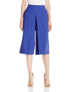 Lark  Ro Womens High Waisted Culotte Pant Marine Large >>> You can get additional details at the image link.