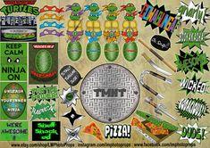 Mutante adolescente Ninja tortugas Photo Booth por LMPhotoProps