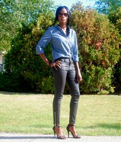 Outfit of the day - coated denim see more on my blog www.stylemydreams.wordpress.com