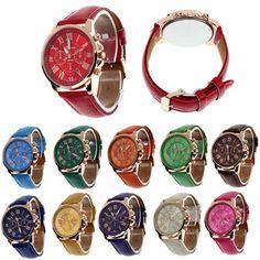 Durable 2016 watch men women relogio masculino Geneva Roman Numerals relogio feminino women watch Faux Leather Quartz Watch  #styles #purse #model #beauty #makeup #jennifiers #outfit #fashion #hair #style #beautiful #cute #jewelry #outfitoftheday #stylish