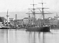 Και πάλι το τζαμί του Κιουτσούκ Χασάν, πριν από τη διαμόρφωση της όψης. Old Maps, Sailing Ships, Vintage Photos, Greece, The Past, Lost, Memories, Island, Country