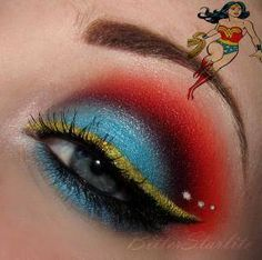 One thin I would love for my bday or a special surprise (/hint hint @Jolene Klassen Klassen Alaniz) ;) is a whole bunch of colorful eye makeup so I could do stuff like this... one shall only dream