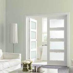 dubbele deuren binnen - Google zoeken New Room, Sliding Doors, Bungalow, Curtains, Flooring, Furniture, Design, Home Decor, Google