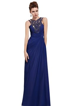 Long Embellished Prom Dress (81528)