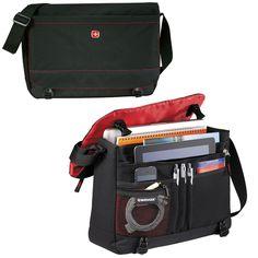 """New Wenger Slim 15""""  / MacBook Pro Black Compu-Messenger Bag - SwissGear  #Wenger #MessengerShoulderBag"""