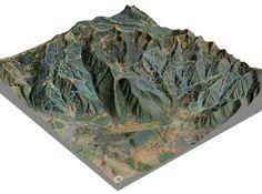 Park City Ski Resort, Utah - Hillshade 3d printed
