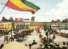 anniversary of the revolution Addis Ababa 1984 Ethiopia Ethiopia Addis Ababa, History Of Ethiopia, Ethiopian People, Haile Selassie, History Education, Out Of Africa, African History, Heavens, Black Is Beautiful